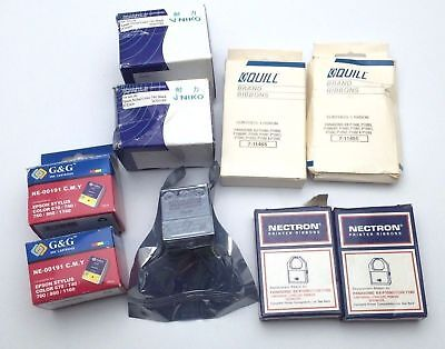 LOT: 5 Ink Jet Printer Cartridges for CHEAP 4 Panasonic Printer Ribbons (Panasonic Inkjet Printer Ink)