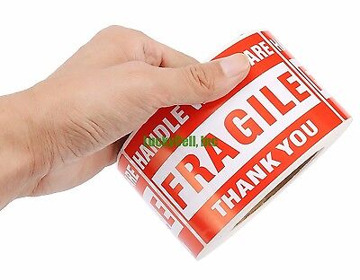 500 Pieces 3x5 Handle With Care Fragile Labels Sticker 1 Roll 500 Per Roll