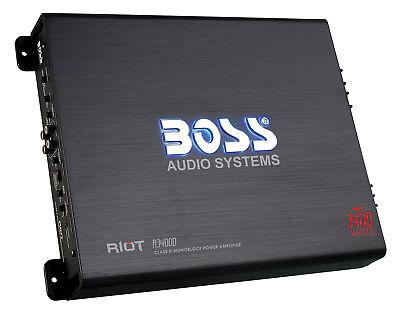 Boss R3400D 3400 Watt Mono Car Audio Class D Power Amplifier Amp + Bass Remote