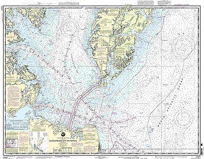 NOAA Chart Chesapeake Bay Entrance 82nd Edition 12221