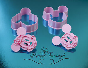mickey and minnie mouse Cookie Cutter plunger Sugarcraft Fondant Cake Decoration