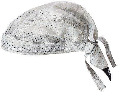 Silver Bandana (Solid Silver Gray Vented Sweatband Doo Du Rag Headwrap Biker Cap Bandanna)