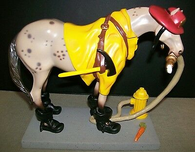 """Fireman / Firefighter ~  """" Fireman Pony """" ~ Painted Ponies ~ NEW With BOX & TAG"""