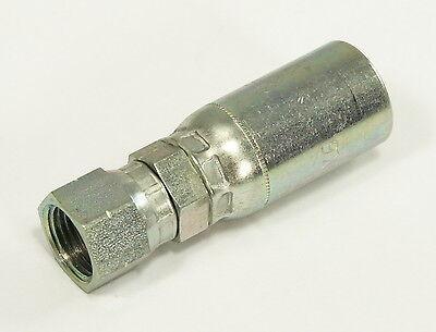 06u-406 45 Sae Flare Swivel Hydraulic Crimp Fitting Eaton Weatherhead Style