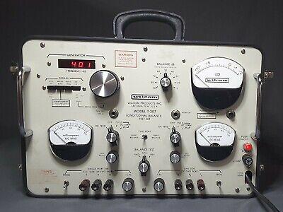 Wilcom T-207 Longitudinal Balance Test Set Telecomunication Electronics Equip.