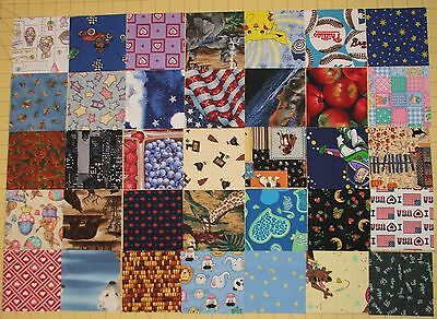 CLOSEOUT NEW 100 DIFFERENT 4 INCH I SPY QUILT SQUARES COTTON
