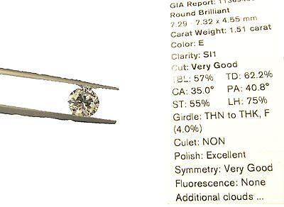GIA ROUND BRILLIANT DIAMOND E SI1 IDEAL LOOSE DIAMOND