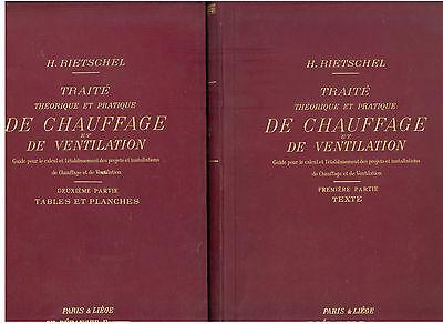 RIETSCHEL TRAITE THEORIQUE PRATIQUE DE CHAUFFAGE ET DE VENTILATION BERANGER 1911