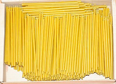 500 Natural 100% Pure Beeswax Taper Candles ( 6