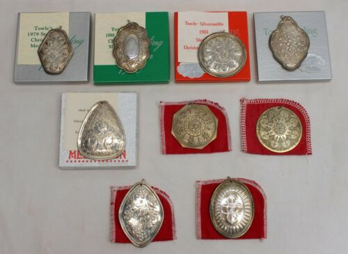 Lot (9) TOWLE Sterling Silver 12 DAYS OF CHRISTMAS Holiday Ornament XMAS Gift