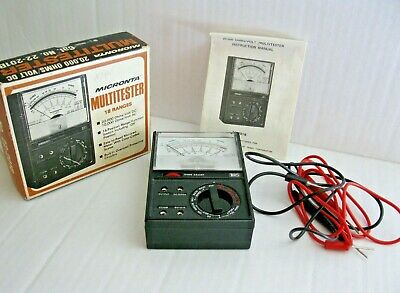 Radio Shack Micronta 22-201b Multimeter Vintage And Next To New