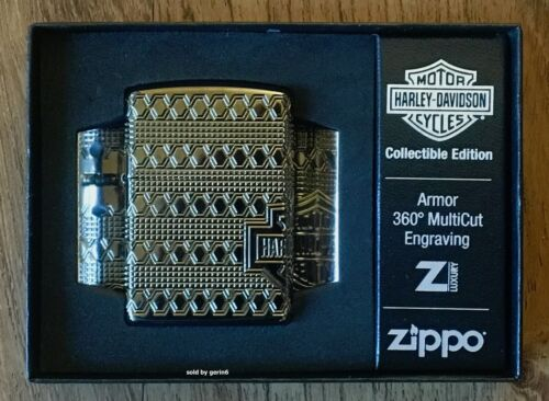 Zippo 2021 Limited Production Harley Davidson Armor Lighter, 49470, New In Box
