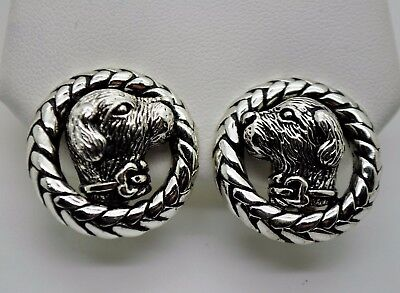 A034 Elegant Chic CLASSIC Design silver tone dog shape clip Fashion Earring M186 (Elegant Earrings Classic Earrings)