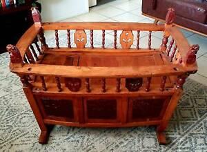 Stunning Antique Chinese Elm Cradle.