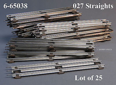 LIONEL 027 TRACK STANDARD STRAIGHT SECTIONS o gauge train 6-65038 LOT (25) NEW