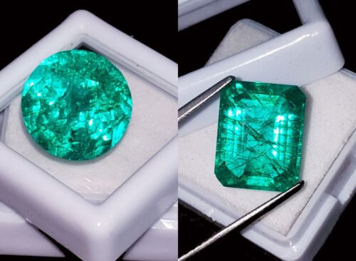 Loose Gemstones 8 to 10 Cts 2 Pieces Natural Emeralds Certified  RK50
