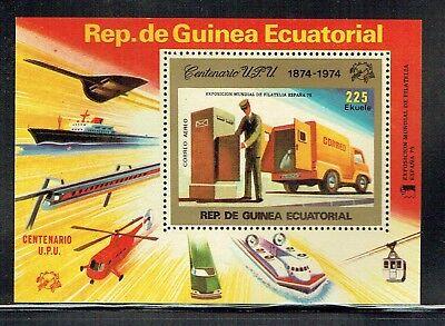 Equatorial Guinea 1974 UPU / Railway theme MS unmounted mint