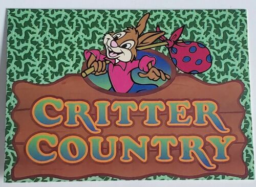 CAST MEMBER DISNEYLAND SPLASH MOUNTAIN BRER RABBIT CRITTER COUNTRY INFO CARD
