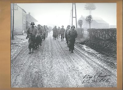 """Philip Perugini """"Band Of Brothers"""" Autographed 8x10 Picture Autograph Photo"""