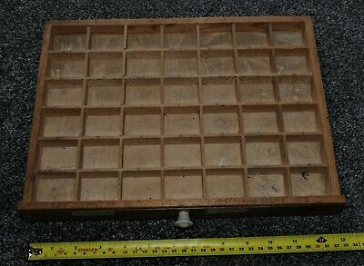 Old Wooden Typecase Tray Draw Letterpress printer # adana  8x5 user #