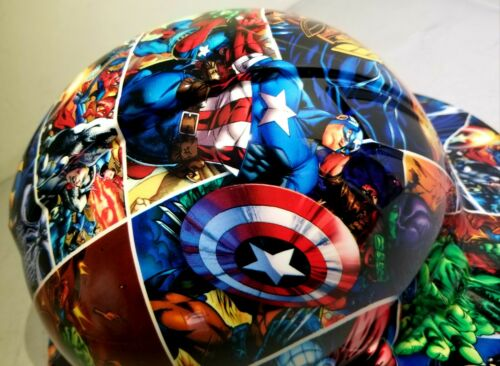 FULL BRIM Hard Hat custom hydro dipped , NEW SUPER HEROES END GAME NEW PYRAMEX 5