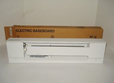 Markel 2-Feet (61cm) Wide Low Profile White Electric Baseboard Heater 208VAC