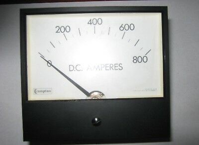 Crompton Instruments Dc Amp Meter Scale 237-01 Va-ecsn 0-800a Used