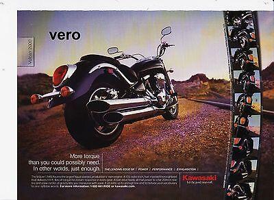 KAWASAKI 2005 magazine print ad vtg motorcycle advert clipping bike VULCAN 2000