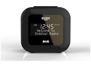 Bush DAB/FM Alarm Clock Radio With USB Charging 1508 Black