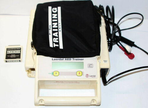 Laerdal Medical Corp AED Trainer Heart Defibrillator Trainer Simulator w/ Module
