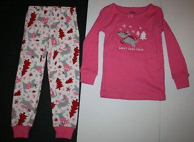 NEW Gymboree Girl Holiday Pajamas Gymmies PJs 3 5 6 7 8 10 Puppy Dog Pine Trees - Girl Holiday Pajamas