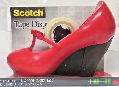 Scotch 3m Magic Tape Dispenser Red High Heel Shoe Mary Jane New In Package