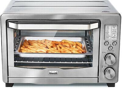 NEW Bella Pro Series Digital 6-Slice Toaster Oven Air Fryer Stainless Steel Fry