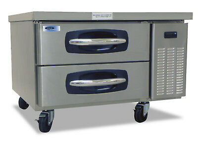 Norlake Nlcb36 Advantedge Commercial Two Drawer Refrigerated Chef Base