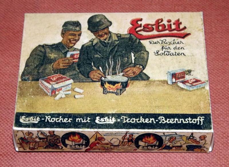 GERMAN WW2 WEHRMACHT ESBIT stove - packaging,  box
