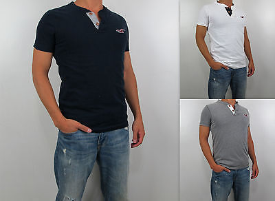 NWT HOLLISTER HCO By Abercrombie Men Muscle Slim Fit San Onofre Henley T Shirt