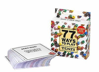77 Ways To Play Tenzi Dice Game Card Deck  Dice Not Included  Carma Games