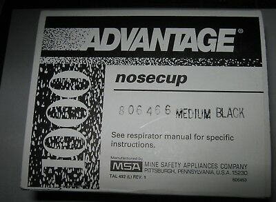 Msa Advantage 806466 Nose Cup Assembly For Ultra Elite Medium Black New
