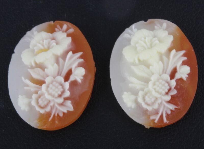 COSTUME PLASTIC FLOWER UNMOUNTED CAMEO 0582B