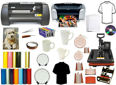 14 500gmetal Vinyl Cutter Plotter 8in1combo Heat Pressprintersublimation Kit