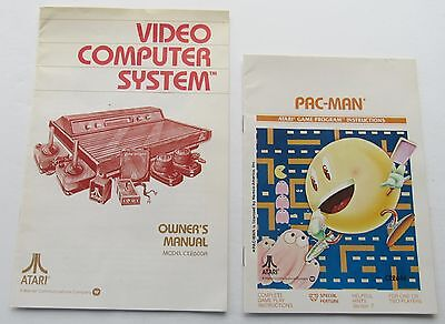 1980 Atari Video Computer System Owners Manual W Pac Mam Program Instr  Booklet