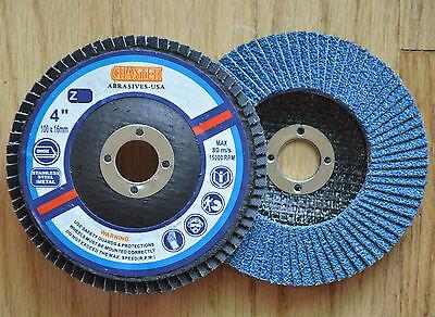 10pcs Premium 4 X 58 Zirconia Flap Disc 40 Grit Sanding Grinding Polishing