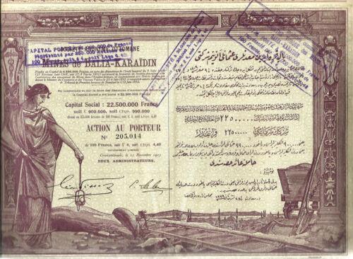 Turkey 1923. Mining from Balia-Karaidin.UNC.