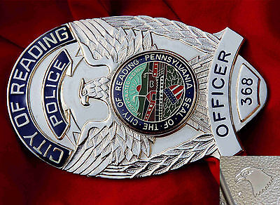 ö0/ Historisches police badge + Officer City Of Reading , Pennsylivania