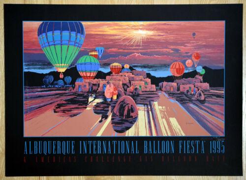 Albuquerque International Balloon Fiesta 1995 Michael Atkinson Limited Ed Poster