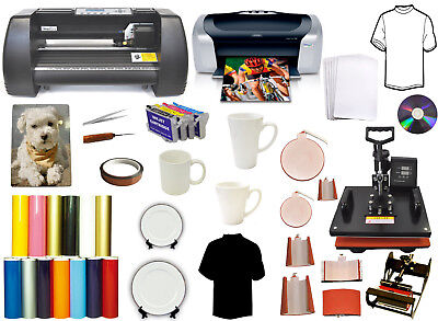 8in1 Heat Press14 Metal Laser Point Vinyl Cutter Plotterprinterrefilmug Pk