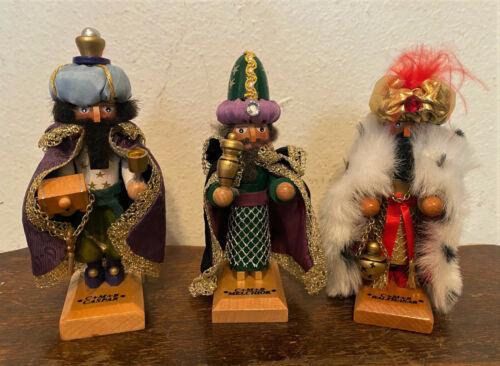 Steinbach Three Wisemen Mini Nutcrackers Set - Germany - Ltd Edition - 908/10000