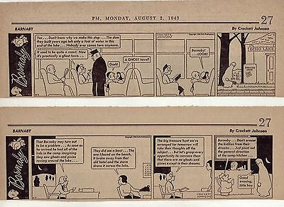 Barnaby by Crockett Johnson - 22 scarce large daily comic strips from Aug. 1943
