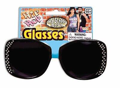 HIP HOP BLACK GLASSES Sunglasses Mod Clout Rapper Goggles Female Shades (Sunglass Forum)