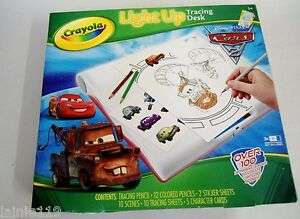 Crayola Disney Pixar Cars 2 Light Up Tracing Desk Kit Over